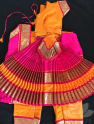 "Orange with pink costume aailable sizes are pant ht 32"" to 40"" Totally 13 costumes are available."
