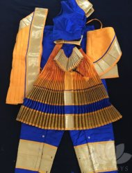 "Royal blue with yellow costume available sizes are pant ht 3"" to 40"" Totally 10 costumes are available"
